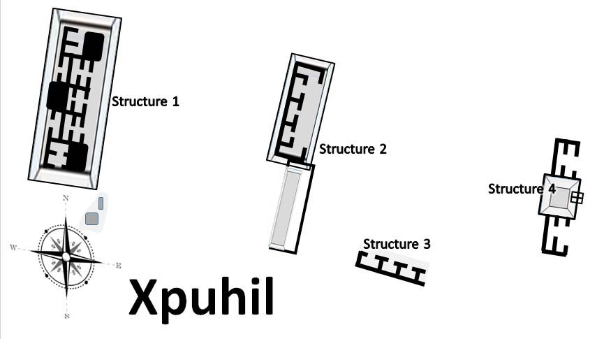 Map of Xpuhil