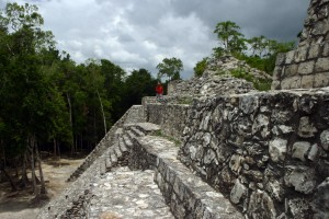 The Mayan Archeological site Balamkú is located in Mexico on the Yucatan Peninsula in the state of Campeche.